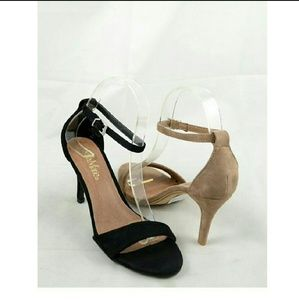 Shoes - Strap Heels - Taupe